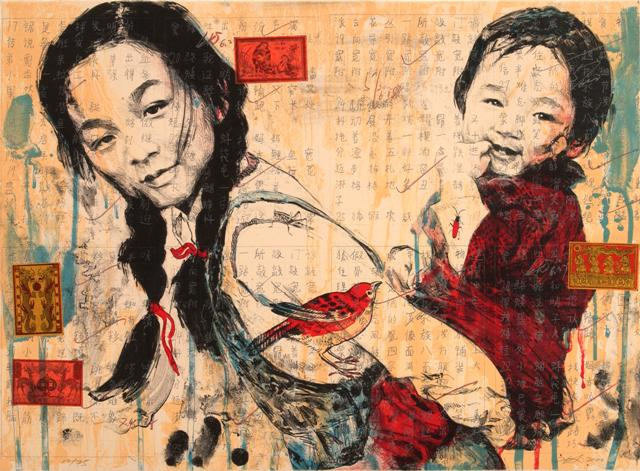Sister, 2000. Lithograph with chine collé on paper (ed. 10/75). 22 x 29 3/4 inches (56 x 76 cm). Gift of the Harry and Lea Gudelsky Foundation, Inc.
