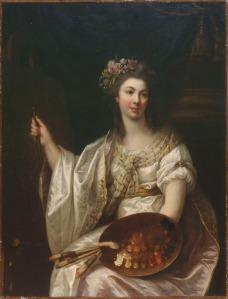 Marie Victoire Lemoine (1754-1820), Portrait of the Artist, ca. 1780/1790. Oil on canvas. Musée des beaux-arts, Orléans