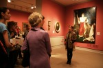 Visitors in the galleries on the Member Preview Day for Royalists to Romantics