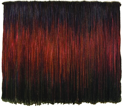 Olga de Amaral, Riscos calizos (Limestone Cliffs), 1988; Wool, 99 x 114 in.; Inter-American Development Bank (IDB) Art Collection, Washington, D.C.