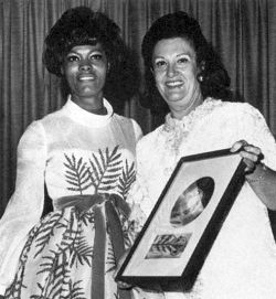 Florence Greenberg with Dionne Warwick