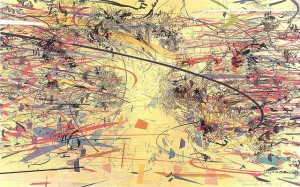 Julie Mehretu, Dispersion, 2002; Ink and acrylic on canvas; 90 x 144 in.