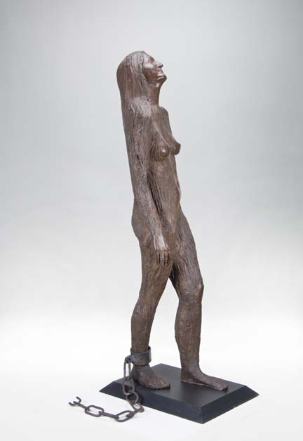 —Kiki Smith, Mary Magdalene, 1994; Cast silicon bronze and forged steel
