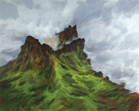Tungurahua, 2011; Oil on canvas, 48 x 60 in.; Image courtesy of the artist