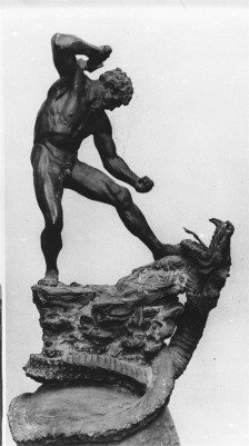 "Anne Marie Carl-Nielsen, Thor and Midgårdsormen (""the Midgard Serpent""), bronze, 1887"