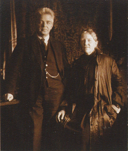 Anne Marie Carl-Nielsen (right) with husband Carl Nielsen