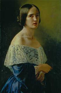 Elisabeth Jerichau-Baumann, Self-portrait, ca. 1850