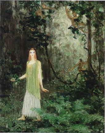 Agnes Pelton, Vine Wood, 1913