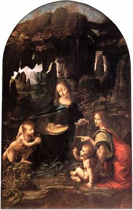 Leonardo da Vinci, Virgin of the Rocks, ca. 1486