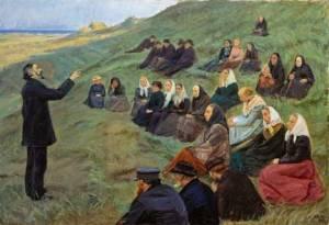 Anna Ancher, A field sermon, 1903; Skagens Museum