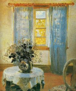 Anna Ancher, Interior with Clematis, 1913; Skagens Museum