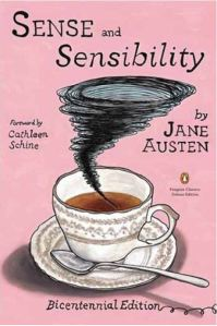 "Book cover for Jane Austen's ""Sense and Sensibility,"" for Penguin, New York, 2011; Ink and gouache on Bristol board; Courtesy of the artist"
