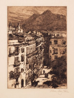 Untitled etching on paper, 1922; NMWA, Gift of Wallace and Wilhelmina Holladay