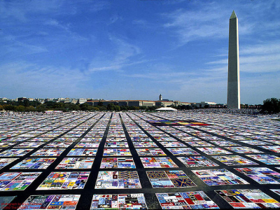 AIDS Memorial Quilt; Image courtesy of Wikimedia Commons