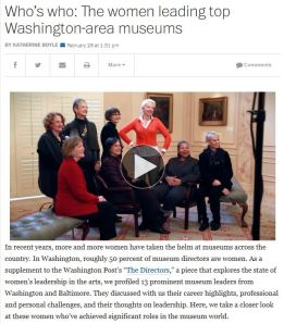 Click here to go to the Washington Post and read more about DC's women museum directors