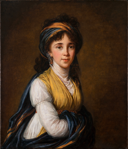 Élisabeth Louise Vigée-LeBrun, Portrait of Princess Belozersky, 1798; Oil on canvas, 31 x 26 ¼ in.; NMWA, Gift of Rita M. Cushman in memory of George A. Rentschler