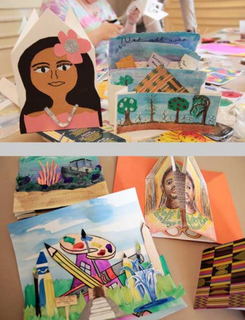 During the ABC Teacher Institute, teachers created fantastic portfolios of artists' book samples to use in the classroom