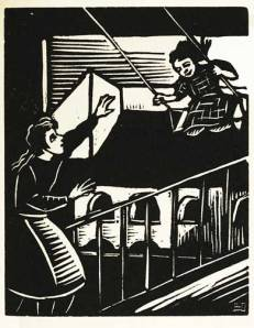 Helena Bochořáková-Dittrichová, woodcut print from Z Mého Dětství (From My Childhood), Prague: Orbis, 1929; National Museum of Women in the Arts Betty Boyd Dettre Library and Research Center